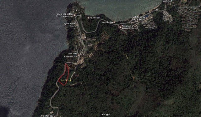 Sea View Land Plot for Sale on Millionaire Mile Image by Phuket Realtor