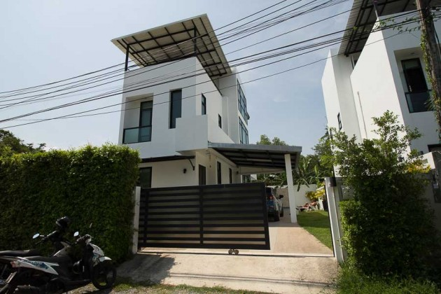 Expandable Modern White 3 Story Home for Sale Image by Phuket Realtor