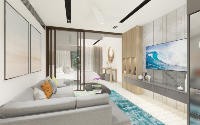 Walk to the Beach when you purchase this Thailand flat for sale Image by Phuket Realtor